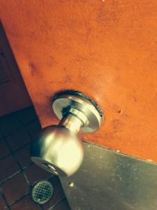 This was the storage room lockset